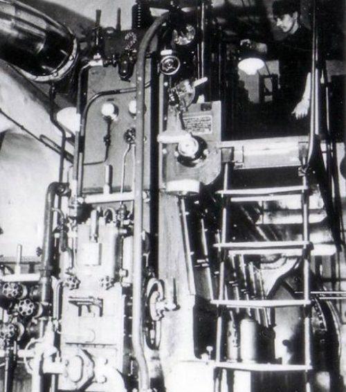 Машинный зал форта «Hackenberg». 1939 г.