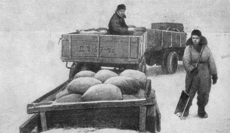 «Дорога жизни» зимой.