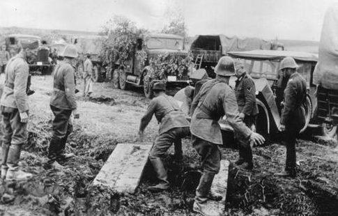 Румыно-немецкие войска в Бессарабии. Июль 1941 г.