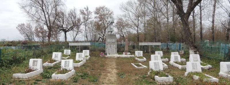 д. Красный Октябрь Поныровского р-на. Памятник у школы, установленный у братских могил советских воинов, погибших в годы войны.