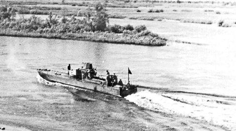 Отдельный Бобруйский дивизион бронекатеров. 1944 г.