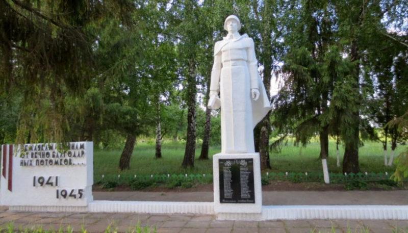 п. Черемушки Курского р-на. Памятник воинам, погибшим в Великой Отечественной войне.