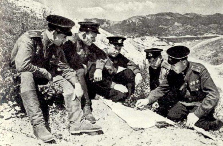 Офицеры на «Малой земле». 1943 г.