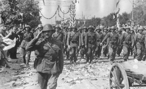 Парад румынских войск в Кишиневе. Сентябрь 1941 г.