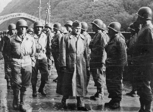 Визит генерала Эурика Дутра, военного министра Бразилии в Италию. Октябрь 1944 г.