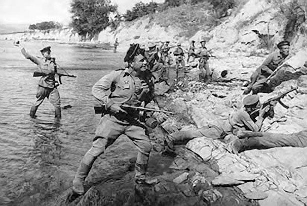 Десант отряда майора Цезаря Куникова. 1943 г.