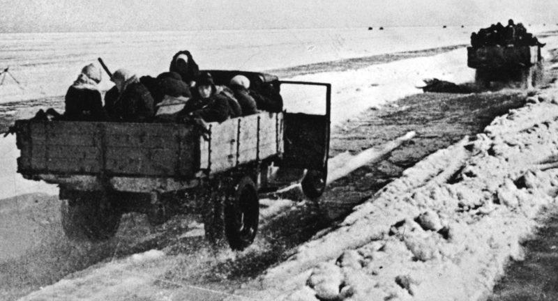 Эвакуация ленинградцев.