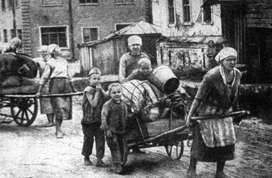 Возвращение беженцев. Август 1943 г.