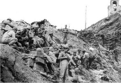 Бразильские солдаты на вершине Монте-Каштелу. Италия, февраль 1945 г.