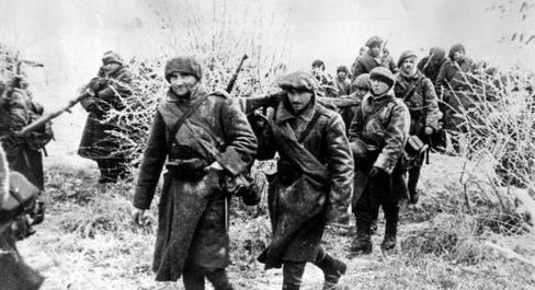 Румынская 4-я горная бригада на пути в Севастополь. Декабрь, 1941 г.