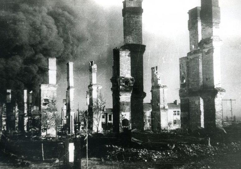Руины города. Август 1943 г.