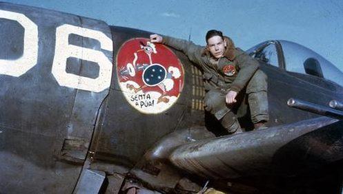 Пилот бомбардировщика Роберто Тормим Коста. Май 1945 г.