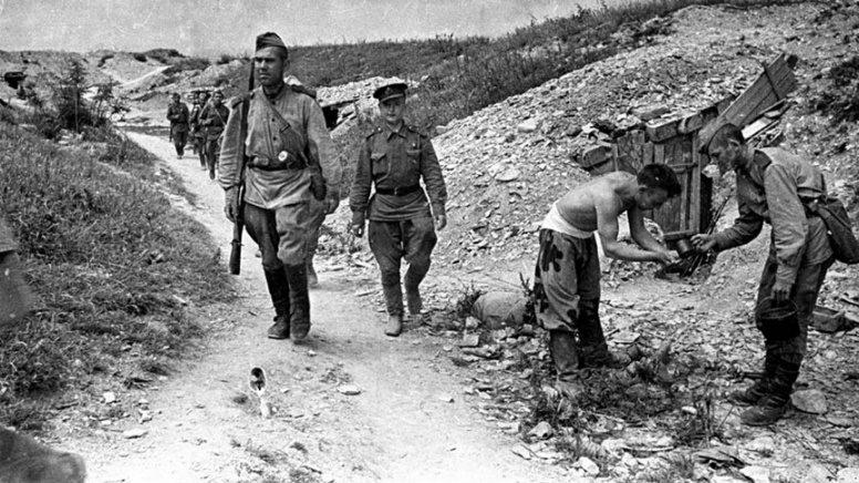 Расположение советских войск в районе Новороссийска. 1943 г.