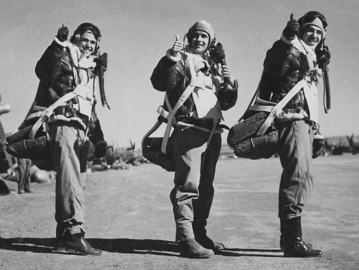 Пилоты бразильских военно-воздушных сил в Италии. 1945 г.