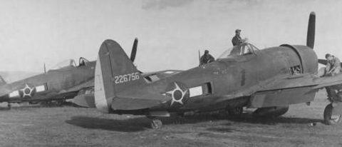 Истребители P47-D 1-й бразильской эскадрильи. Италия 1945 г.