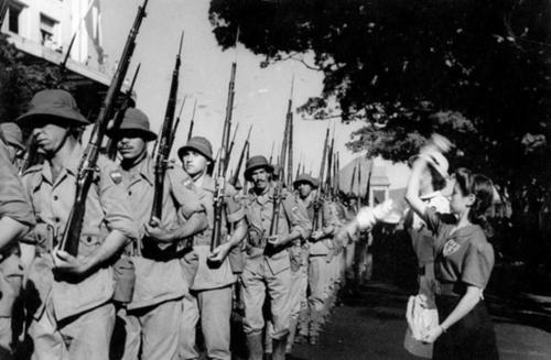Парад Победы бразильцев в Италии. 1945 г.