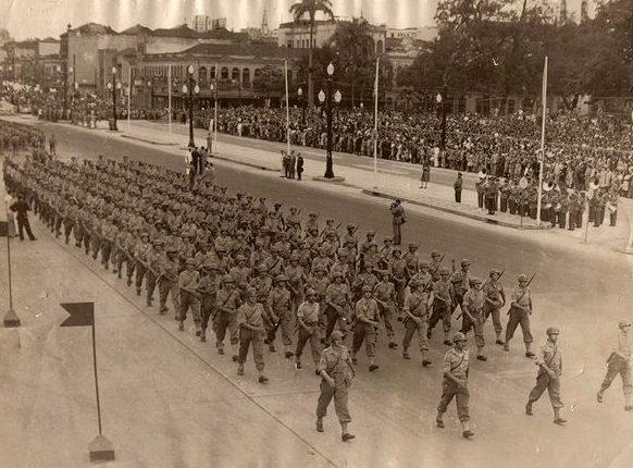 Парад Победы в Рио-де-Жанейро. Сентябрь 1945 г.