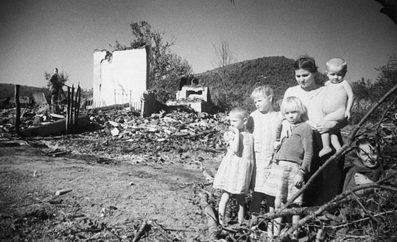 Руины города. 1944 г.