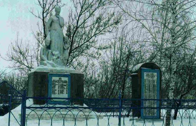 с. Нагольное Пристенского р-на. Памятник, установленный на братской могиле советских воинов.