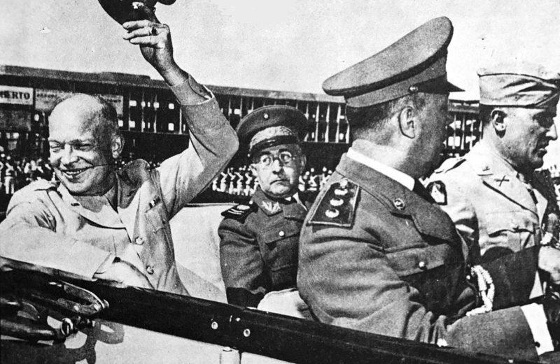 Генерал Маскаренас де Морайс с генералом Дуайтом Д. Эйзенхауэром, командующим союзными войсками в Европе во время Второй мировой войны в Бразилии. 1946 г.