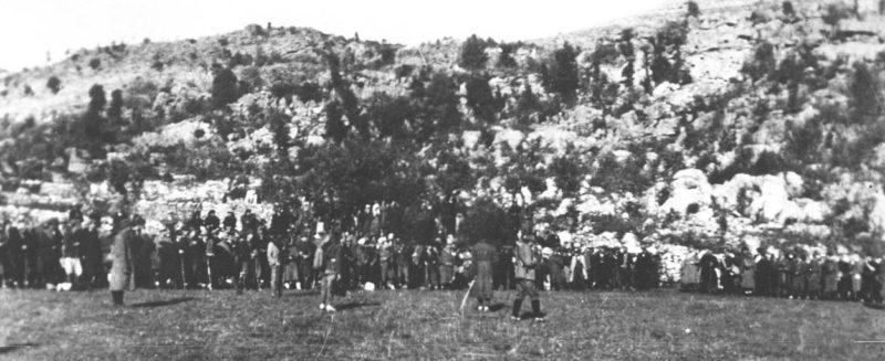 Смотр партизанских войск перед боем за Плевлю.