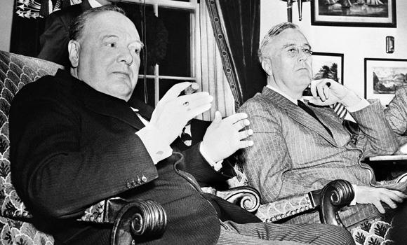 Уинстон-Черчилль и Франклин-Рузвельт