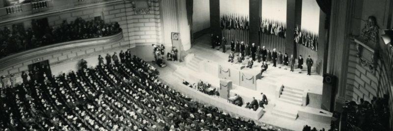 Заседание Сан-францисской конференции.
