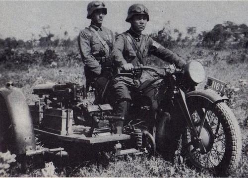 Немецкий тяжелый мотоцикл «Zündapp» K-800 на службе в Китае. 1939 г.