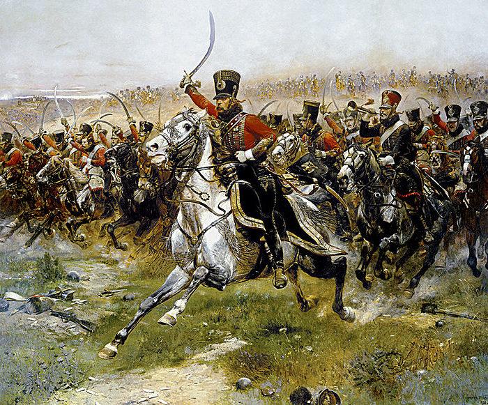 Атака легкой гусарской кавалерии в ходе Наполеоновских войн.