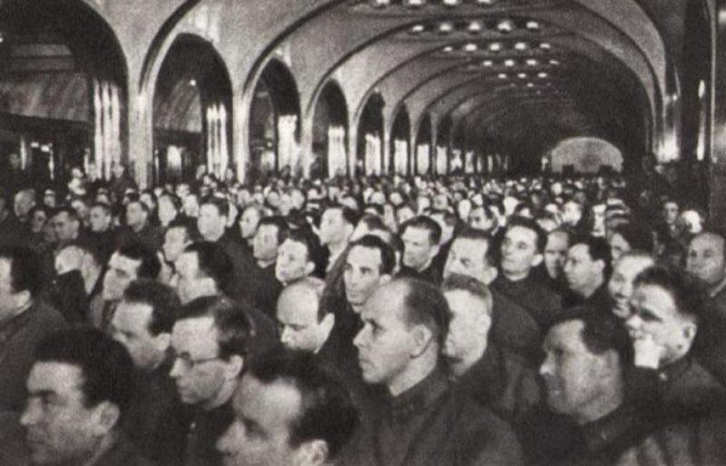 Торжественное заседания Моссовета 6 ноября 1941 г.
