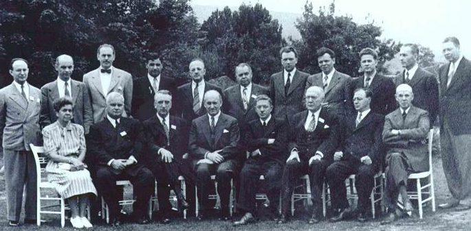 Участники делегаций СССР и США на конференции в Бреттон-Вудсе.
