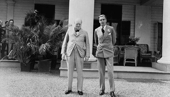 Уинстон Черчилль и Энтони Иден.