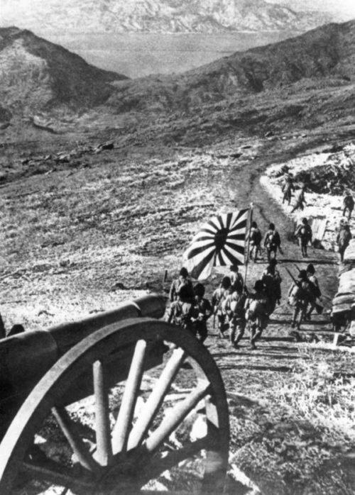 Японские войска вступают в Маньчжурию. 1931 г.