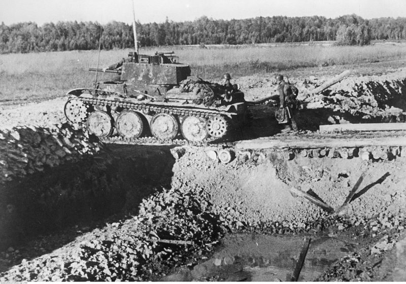 Немецкие танки у Ржева.