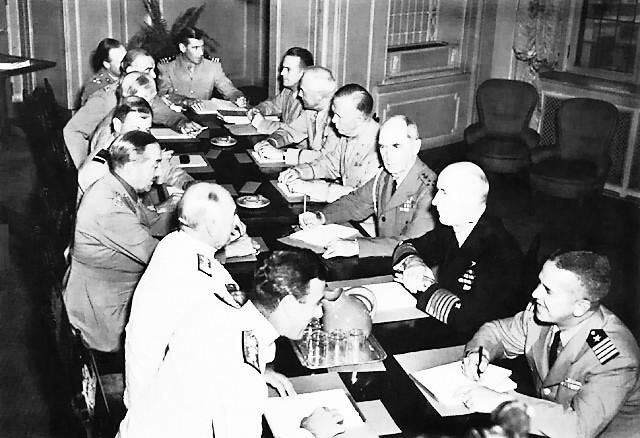 Заседание Объединенного комитета начальников штабов. Квебек, 23 августа 1943 г.