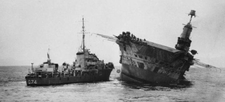 Гибель авианосца «Ark Royal».