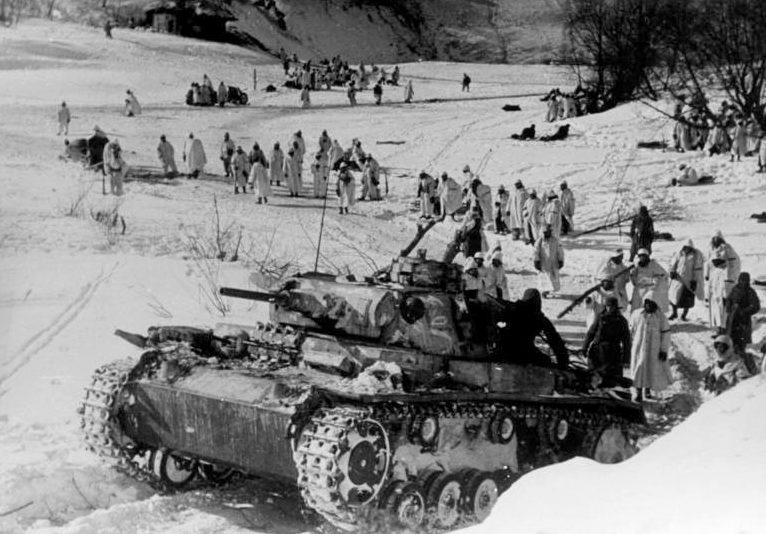 Прорыв окружения под Демянском. 21 марта 1942 г.