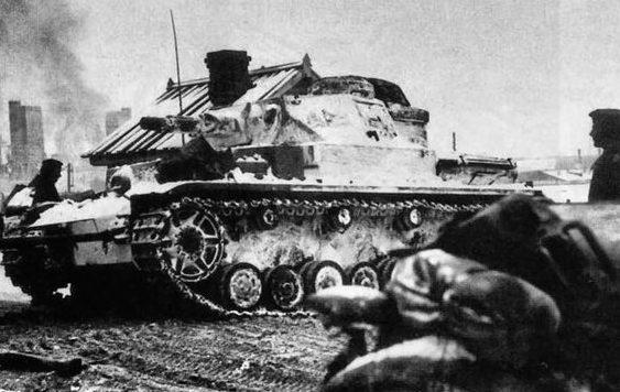 Немецкие танки под Тулой.