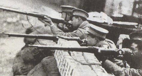 Шанхайский инцидент. Китайские депутаты в бою. 28 января 1932 г.
