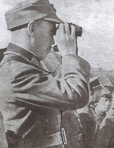 Чан Кайши на линии фронта. Шанхай, 1937 г.
