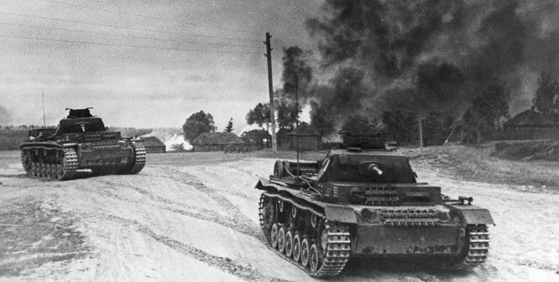 Немецкие войска на подступах к Москве.
