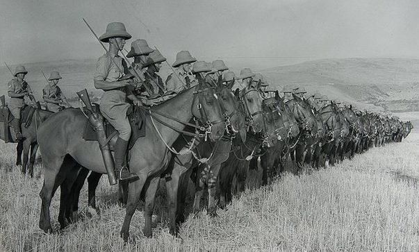 Британская кавалерия в Палестине. 1940 г.