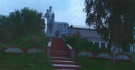 с. Бунино Солнцевского р-на. Памятник, установленный на братской могиле, в которой похоронены советские воины.