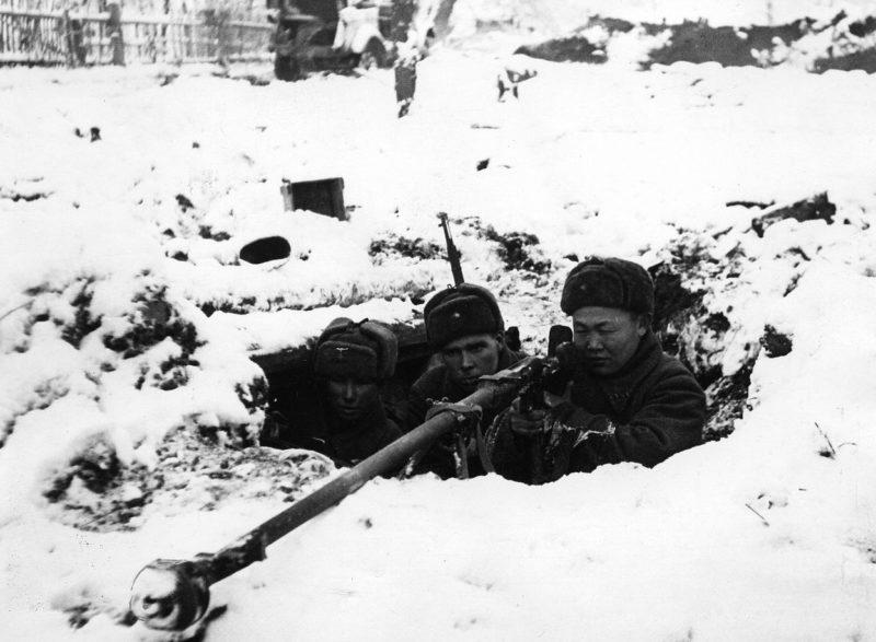 На рубежах обороны Москвы.