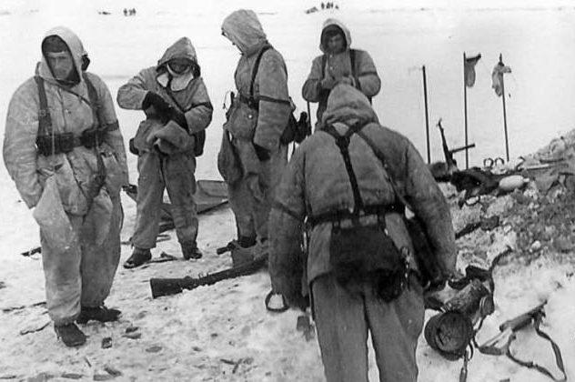 Немецкие лыжники. Февраль 1942 г.