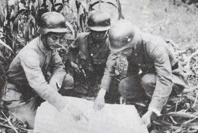 Китайские офицеры в битве за Шанхай. 1937 г.