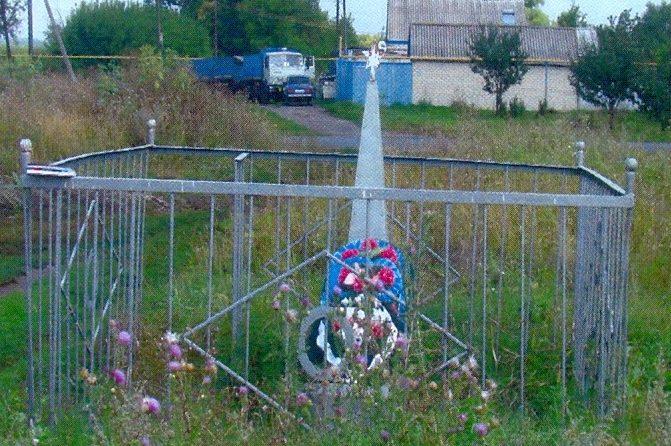 с. Машкино Солнцевского р-на. Братская могила советских воинов.