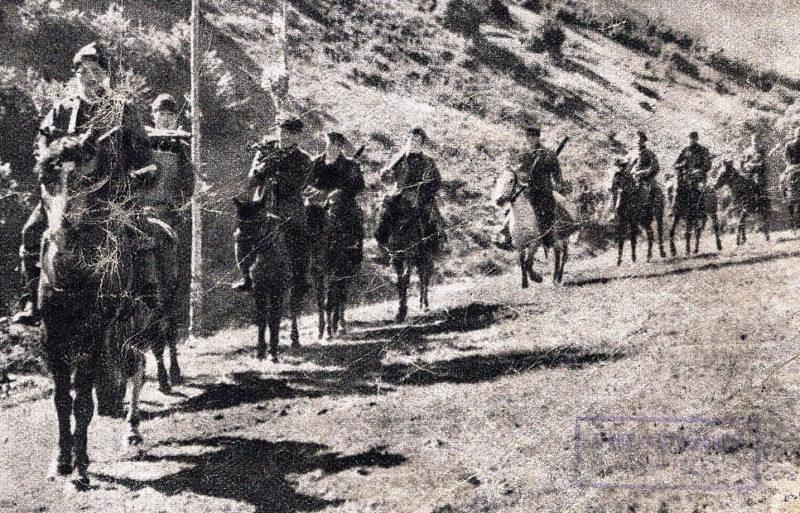 Греческая кавалерия в горах. 1941 г.