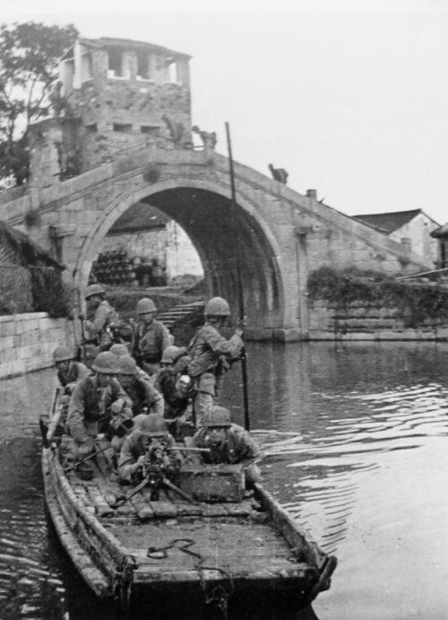 Японские солдаты в районе китайского города Ханчжоу. Апрель 1941 г.