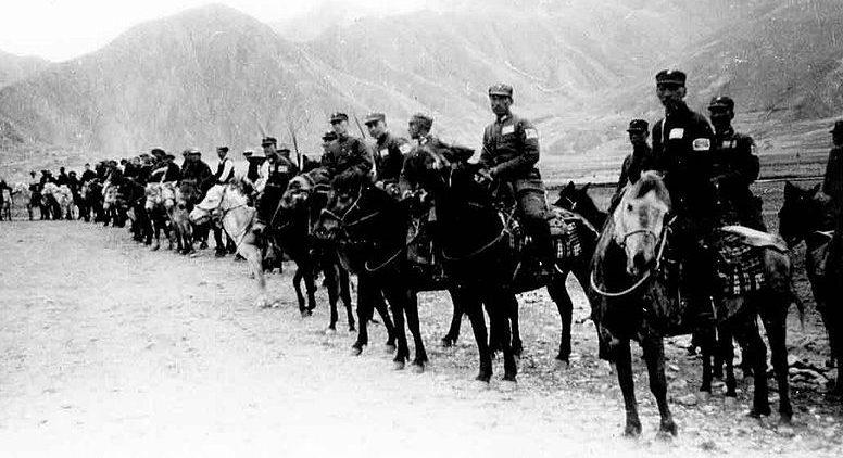 Китайская кавалерия во время Второй мировой войны.
